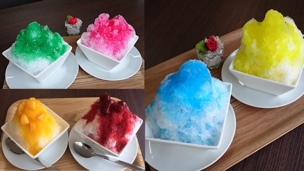果汁入りのかき氷